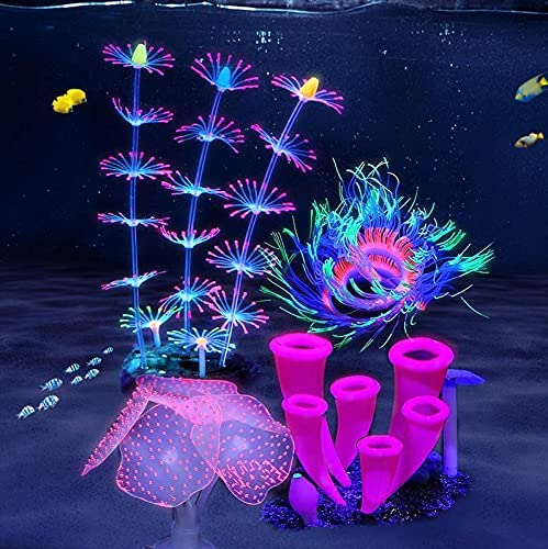 ZtohPyo 4 Pieces Silicone Fish Plants Simu Tank Discount mail order Decorations with Boston Mall