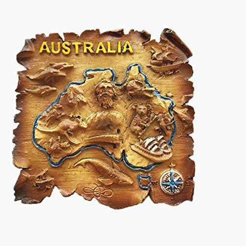 Kühlschrankmagnet mit 3D-Karte von Australien, Reiseaufkleber, Souvenir, Dekoration für Zuhause und Küche