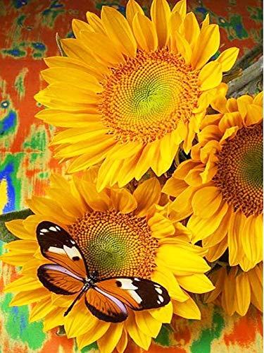 5D DIY mariposa y flor diamantes de imitación bordado de diamantes mosaico punto de cruz decoración del hogar pintura de diamantes A6 60x80cm