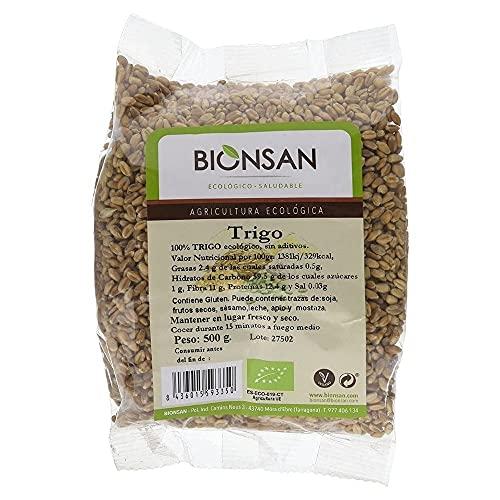 Bionsan Blé Biologique en grains | Écologique | 6 sachets x 500 g | Total: 3000 g