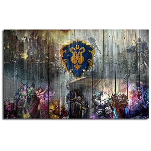 Mode Leinwand Malerei World Of Warcrafts Wow Alliance Gemälde Druck Schlafzimmer Home Decor Moderne Wandkunst Ölgemälde Poster Picturer No Frame Paintings 60 * 90cm