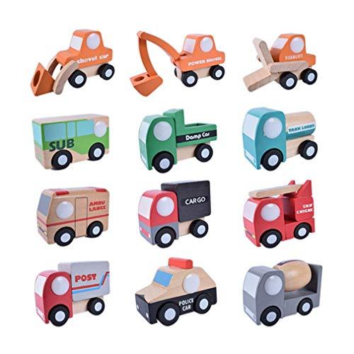 HENGSONG 12 Pièces Petit Différentes Voitures Enfants Jouets de Creative Cadeaux (Style 1)