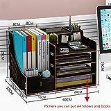 AOLI Adjustable Desktop Shelf,with Pen Holder Desk Storage Organizer Display Shelf Rack Birthday Gifts Home Decor-R 40X32X28Cm(16X13X11Inch),S,40 * 32 * 28cm(16 * 13 * 11inch)