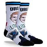 PKWY NBA Unisex Socken Luka Doncic Dallas 730s #77, 1 Stück, Herren, schwarz / weiß, Large (Mens 6-12/Womens 7-13)