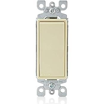 Leviton Lt Almond Decora Single Pole Rocker Wall Light Switch 15A 5601-2T Boxed