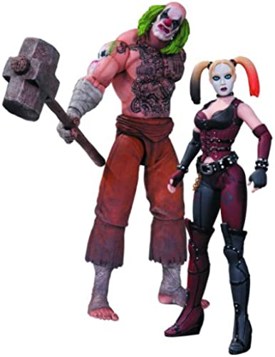 DC Sammlerstücke Batman  Arkham City  Mr. Hammer und Harley Quinn Actionfigur, 2er Pack