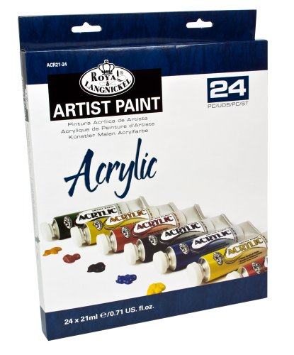 Royal & Langnickel - Pintura acrílica (21 ml, 24 unidades), multicolor