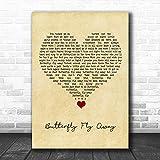 M.i.l.e.y C.y.r.u.s Butterfly Fly Away Vintage Heart...