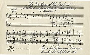 Mario Castelnuovo-tedesco - Autograph Musical Quotation Signed 12/30/1946