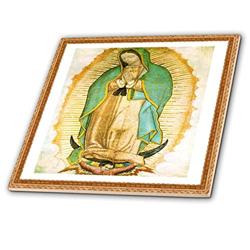 3dRose Florene all Things Mexican – Photo of Painting of Our Lady of Guadalupe – Piastrelle