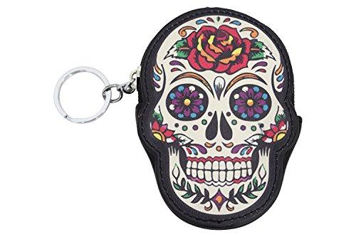 Lost Queen Rose Sugar Skull Dia De Muertos Coin Purse wallet