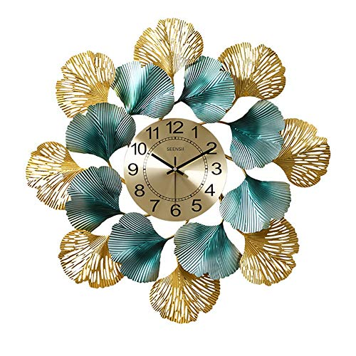 American Style Wall Clock, Indoor Mute Iron wandklokken met Grote digitale, gepersonaliseerde decoratieve hangende Klok for Living Room Corridor (Size : 27.5inch)