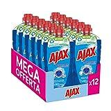 Ajax Detersivo Pavimenti Disinfettante Multisuperficie, senza Candeggina, 12 x 950ml