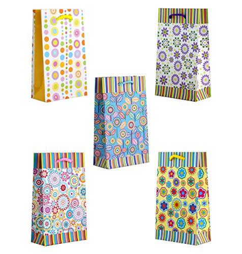 10 Geschenktüten klein Floral 11 x 18 x 5 cm Geschenktaschen Geschenkbeutel Taunus Grußkarten Verlag 99-0146