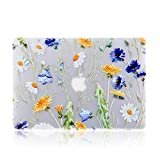 iDonzon MacBook Air 13 inch Case (A1466/A1369, 2010-2017 Release), 3D Effect Matte Clear See Through Hard Cover Only Compatible Older Version Mac Air 13.3 inch - Floral Pattern