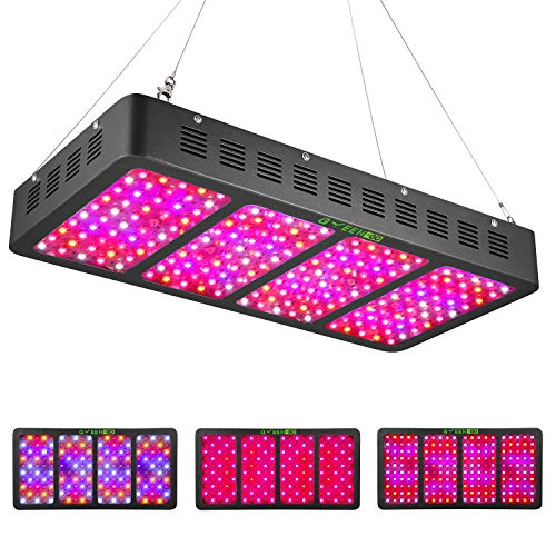 2000W LED Grow Light Full Spectrum with Veg&Bloom Switch,GREENGO Triple-Chips LED Grow Lamp with Daisy Chain for Indoor Plants Veg and Flower
