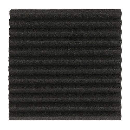 6 Stück Schallschutz-Akustikschwamm, dreieckiger Rillenschwamm Schallabsorbierender Schwamm, schwarze Akustikplatten für gewerbliche oder private Zwecke (2.5cm)