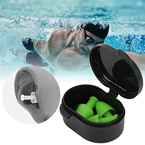 Zwemoordopjes, siliconenmateriaal Zwemoordopjes met siliconenmateriaal voor zwemmen Training voor waterspelletjes voor dagelijks baden(Tree frog green)