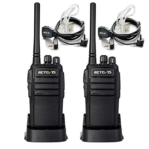 Retevis RT21 Walkie Talkies for Adults Long Range Rechargeable 16CH VOX Scan Two Way Radio with Earpiece for Camping Hunting(2 Pack)