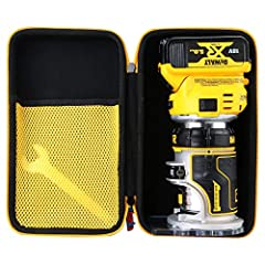 Hard Case for DEWALT 20V Max XR Cordless Router, Brushless, Tool Only (DCW600B) CASE ONLY: the listing is for case only, not for any other accessories CONVENIENT: Hand Strap For keeping your devices safe and handy,Lightweight, Classic zipper convenie...