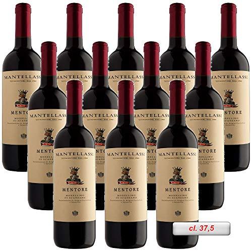 Mentore : Morellino di Scansano DOCG Fattoria Mantellassi Italianischer Rotwein (12 flaschen 37,5 cl.)
