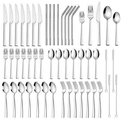 40 Pieces Silverware Set
