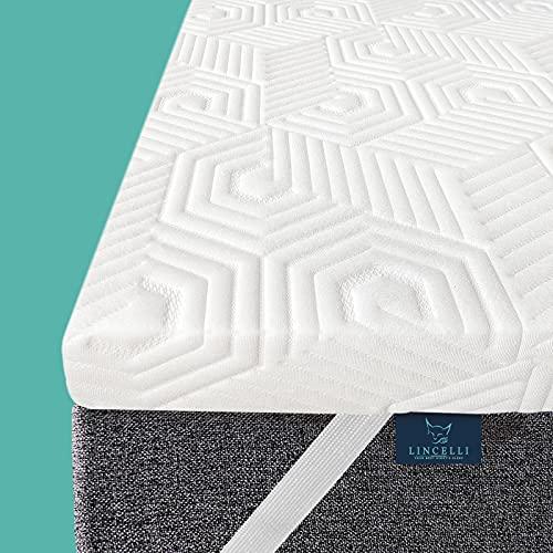 LINCELLI 3 Inch Memory Foam King Mattress Topper