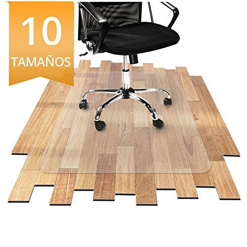 OfficeMarshal Protector Escritorio Transparente - Alfombra Oficina para Silla con Ruedas | Uso para Suelo Duro | PVC | Muchos tamanos (75x120 cm)