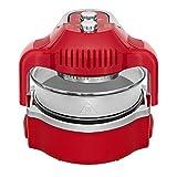 cooklite Aero Fryer aerofryer.ro-b2b Friteuse à air chaud sans huile avec Technologie Cook Light à triple cuisson, rouge
