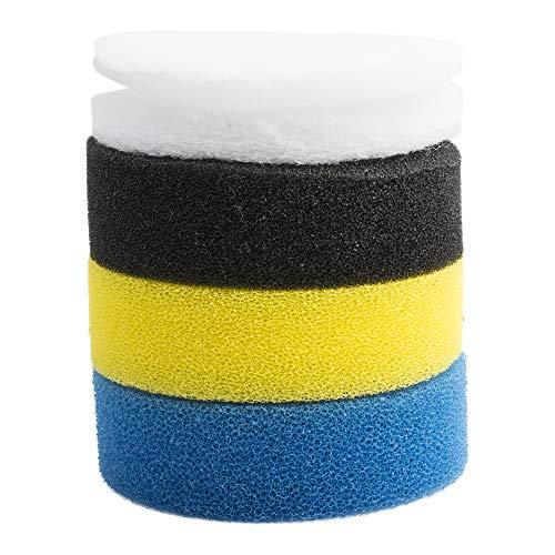 NICREW Kit Spugna Filtrante Sostituibile per Filtro Acquario Esterno 400L H, Filtrazione a 4 Strati