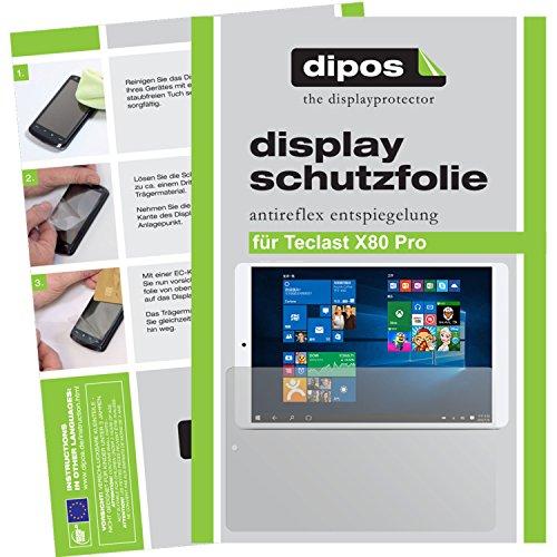 dipos–Protector de pantalla compatible con Teclast X80Pro (2unidades, antirreflectante), mate
