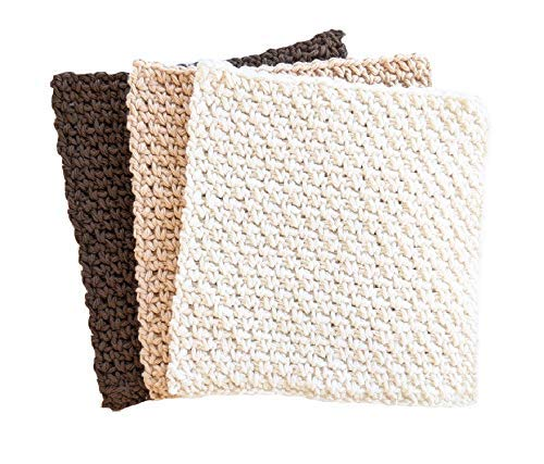 Hand 100% quality warranty Crochet Cotton Sales Wash Dish cloth of Set Neutral Multi Color