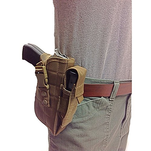 Nylon Gun Holster for Your Hip, Side or Tactical Vest. Fits Beretta 92,96.40 S&W, U22 Neos 22LR
