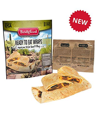 Mexican Style Beef Taco 3 Pack - Bridgford MRE Ready to Eat Meal