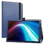 LiuShan Compatible con TECLAST P20HD Funda/Winnovo P20 Funda, Folio Soporte PU Cuero con Funda para 10.1' TECLAST M40 / Dragon Touch Notepad 102 / Blackview Tab 8/Tab 8E / AOYODKG A39,Azul