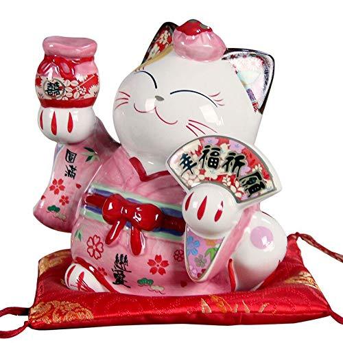 KOIYAKI Maneki Neko sw0601A - Gato de la Suerte (Porcelana, 14 x 10 x 12 cm), Fy35525, L.15cm W.10cm H.13cm
