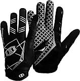 Seibertron PRO 3.0 Elite Ultra-Stick Sports Receiver Gloves/Guanti da Football Americano PRO Ricevitore Gioventù e Adulti Nero XS