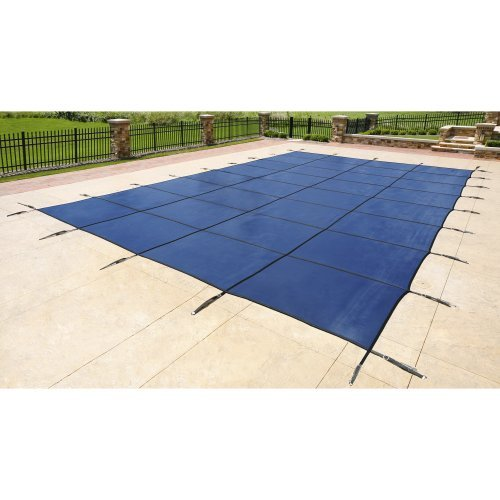 Blue Wave 20-ft x 40-ft Rectangular In Ground Pool Safety Cover - Blue