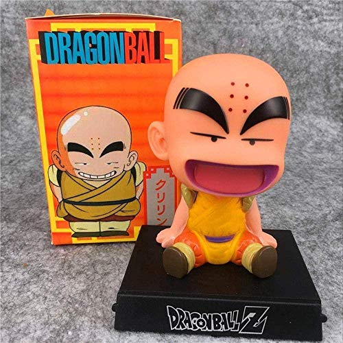 Dragon Ball Z Soporte para teléfono Son Goku Krillin Kuririn Childhood Bobble Head Anime Figuras DBZ Modelo Juguetes Krillin-Krillin-Goku-Crilin