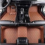 Alfombrillas Coche para Mercedes Benz Clase A Clase E Clase C W204 W205 W163 Glk Gla Gle Alfombrilla Impermeables para Todo Clima Antideslizantes Alfombras Coche Accesorios-Marrón
