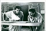 Vintage photo of 1994John Michael Turturro and Robin McLaurin Williams in the movie Being Human.
