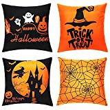 Funda de almohada de Halloween – 4 fundas de almohada de...