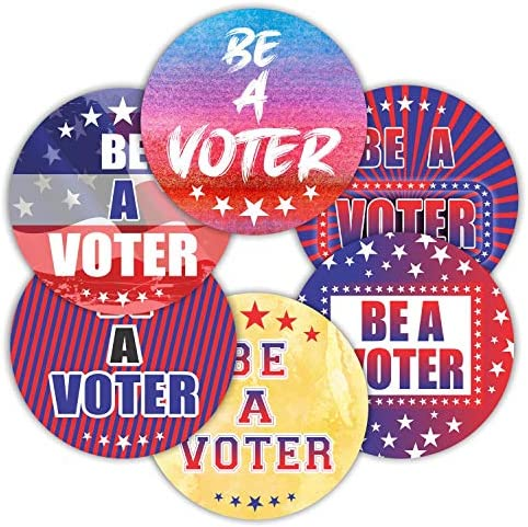Be a Voter Stickers Seals Labels Pack of 120 2 Large Round Decals for Patriotic Election Political product image