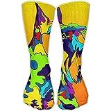 ouyjian Mid Calf Length Socks Multi-Color Scottish Terrier Dog Basketball Sports Stockings Boot Crew Socks For Man Women