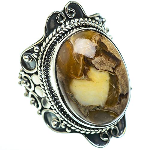 Ana Silver Co Large Butterfly Jasper Ring Size L 1/2 (925 Sterling Silver)