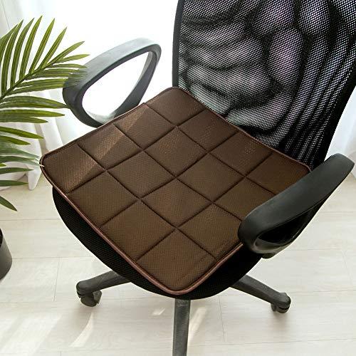 Bamboe houtskool stoel kussensloop anti-slip ademende stoel pad mat voor kantoor stoel auto stoel 45x45cm BRON