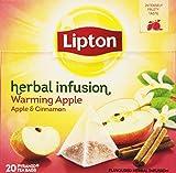 LIPTON Tea Infusion Warming Apple & Cinnamon 20 bolsitas