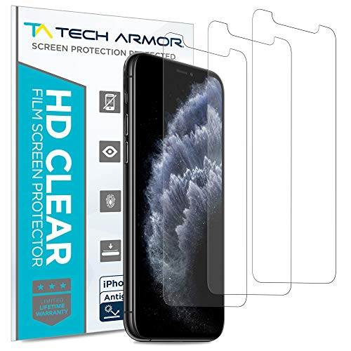 Tech Armor Matte Anti-Glare/Anti-Fingerprint Film Screen Protector for New Apple iPhone 11 Pro/iPhone X/iPhone Xs - Case-Friendly, 3D Touch Accurate Designed for 2019 Apple iPhone 11 Pro [3-Pack]
