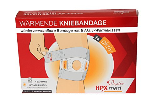 HPXmed: Wärmende Kniebandage mit 8 Wärmepads