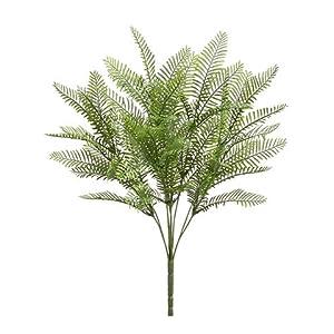 "Silk Flower Arrangements 20"" Woodland Fern Bush x9 Green (pack of 24)"